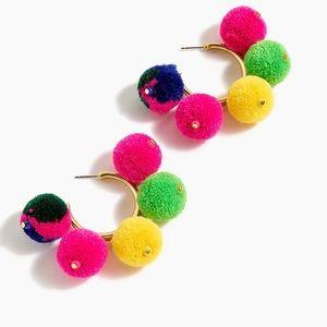 J. crew Pom Pom earrings 💖💖🌈🌈🌟🌟🌟 summer!
